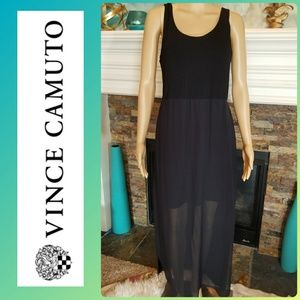 VINCE CAMUTO BLACK TANK MAXI DRESS